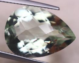 10.40ct Natural Greenish Prasiolite Oval Cut Lot GW8157