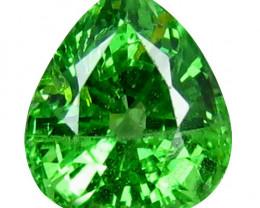 Tsavrite Garnet 1.24 Cts Vivid Green Step cut BGC1175