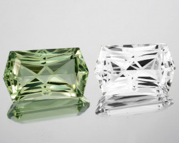 ~CUSTOM CUT~ 23.17 Cts Huge Natural Beautiful Green Amethyst & White Topaz
