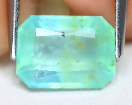 Paraiba Opal 1.75Ct Octagon Cut Natural Peruvian Blue Opal B7126