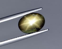 Natural Black Star Sapphire 2.15 Cts, Six Rays