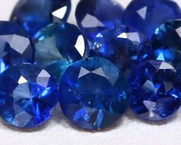 2.72Ct Calibrate 4.0mm Round Natural Blue Color Sapphire Lot B7255