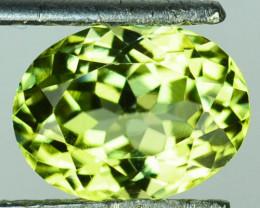 3.00 Cts Natural Lemon Green  Sillimanite Oval Gem