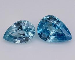 3.15Crt Blue Zircon Natural Gemstones JI108