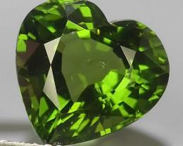 4.75 CTS GENUINE TOP GREEN COLOR APATITE HEART GEM BRAZIL~EXCELLENT!!