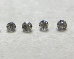 0.012 ct 6 x Fancy Light Grey - Fancy Grey VVS-SI Single Cut Round Diamonds