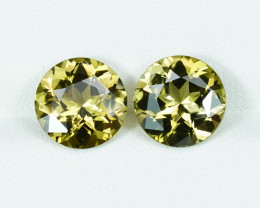 5.01CT PAIR of 9.2mm BRILLIANT CHARDONNAY TOURMALINES $1NR!