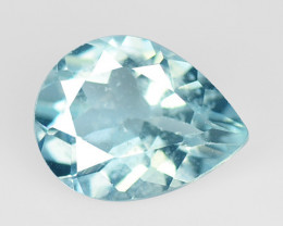 Blue Aquamarine 1.10 Cts Un Heated Natural Loose Gemstone