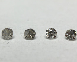 0.012ct 4 x Fancy Grey VS Single Cut Round Diamond
