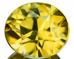 ~GLITTERING~ 2.90 Cts Natural Golden Zircon Oval Custom Cut Tanzania