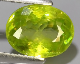 1.85 CTS~EXCELLENT NATURAL-YELLOWISH GREEN SPHENE OVAL~WONDERFUL!!