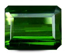 Tourmaline 0.80 Cts Vivid green Step cut BGC835