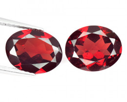 Rhodolite Garnet 4.64 Cts 2 Pcs Natural Gemstone