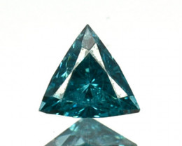 0.03 Cts Natural Diamond Flashing Blue 2mm Fancy  Africa