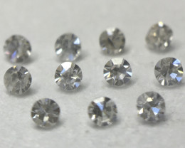 SUPERB! 0.055ct 11 x VS - I1 Fancy Light Grey Single Cut Round Diamond