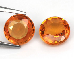 Orange Sapphire 1.35 Cts 2 Pcs Amazing Rare Natural Fancy Loose Gemstone