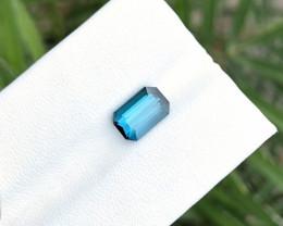 1.90 Ct Natural Indicolite Transparent Tourmaline Ring Size Gemstone