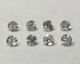 0.045ct 8 x Fancy Light Grey VVS Single Cut Round Diamond