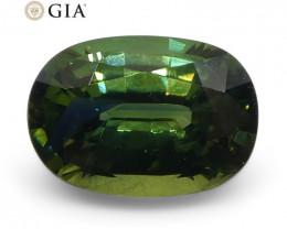 1.09ct Oval Teal Green Sapphire GIA Certified Australian