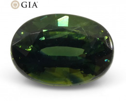 1.07ct Oval Teal Green Sapphire GIA Certified Australian Unheated