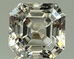 3.34Ct Topaz Excellent Asscher Cutting Top Luster From Pakistan. GTP 49