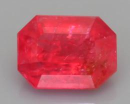 Rare Rhodonite 1.42  ct Great Rasberry Color Africa SKU 6
