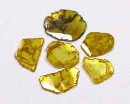 Yellow Diamond Slices 1.14Ct Natural Genuine Yellow Diamond B8021