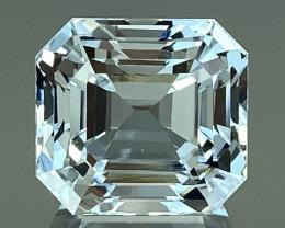 13.40Ct Aquamarine Excellent Asscher Cut Beautiful Quality Gemstone. AQF 16