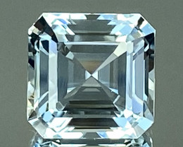 9.91Ct Aquamarine Excellent Asscher Cut Beautiful Quality Gemstone. AQF 17