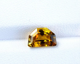 1.80Cts Lustrous Unheated  fire yellow Color Custom cut Tourmaline 1.80Cts