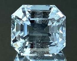 6.63Ct Aquamarine Excellent Asscher Cut Beautiful Quality Gemstone. AQF 20