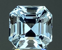 5.35Ct Aquamarine Excellent Asscher Cut Beautiful Quality Gemstone. AQF 21
