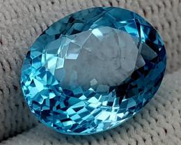 9.56CT BLUE TOPAZ  BEST QUALITY GEMSTONE IIGC08