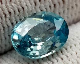 2.61CT BLUE ZIRCON BEST QUALITY GEMSTONE IIGC08