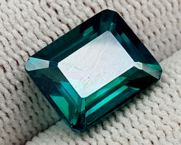 5.56CT GREEN TOPAZ COATED  BEST QUALITY GEMSTONE IIGC08