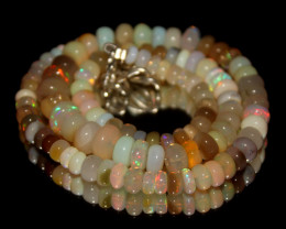 81 Crt Natural Ethiopian Welo Opal Necklace 3044
