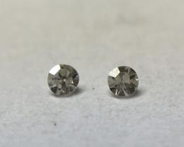 0.01ct 2 x Fancy Dark Grey VS Single Cut Round Diamond