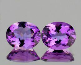 10x8 mm Oval 2 pcs 4.55cys Pinkish Purple Amethyst [VVS]