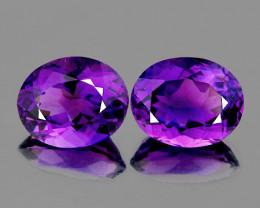 11x9 mm Oval 2 pcs 6.07cts Purple Amethyst [VVS]