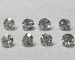 0.04ct 8 x Fancy Light Grey VS Single Cut Round Diamond
