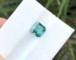 1.90 Ct Natural Greenish Blue Transparent Tourmaline Ring Size Gemstone
