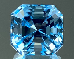 8.60Ct Topaz Excellent Asscher Cutting Top Luster Gemstone. TPF 11