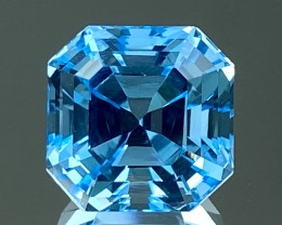 9.22Ct Topaz Excellent Asscher Cutting Top Luster Gemstone. TPF 12