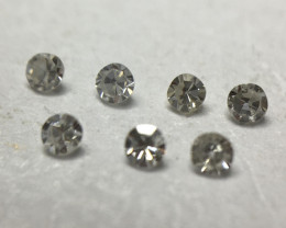 0.055 ct 7 x Fancy Grey Vs/Si Single Cut Round Diamonds