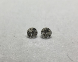 0.014ct 2 x Fancy Grey VS Single Cut Round Diamond