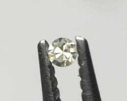0.007 ct Greenish Grey I1 Single Cut Round Diamond