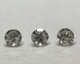 0.021ct 3 x Fancy Grey VVS Single Cut Round Diamond