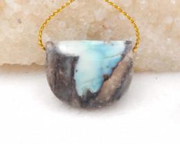 60cts Natural Larimar Gemstone Pendant,Skyblue Larimar Pendant H1190