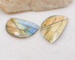 111cts Natural labradorite earrings, high quality labradorite beads H1198