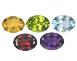 Fancy Gemstones 6.86 Cts 5 Pcs Natural Mix Color